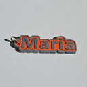 Maria Single & Dual Color 3D Printable Keychain-Badge-Stamp | Other Files | Patterns and Templates