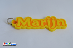 marijn single & dual color 3d printable keychain-badge-stamp