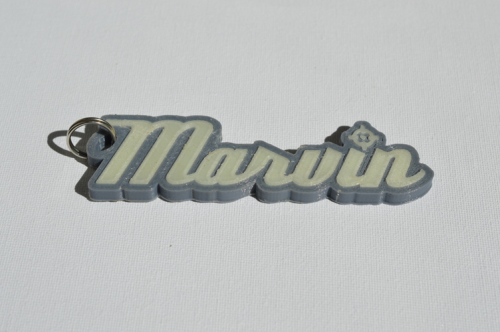 First Additional product image for - Marvin Single & Dual Color 3D Printable Keychain-Badge-Stamp