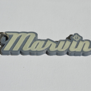 marvin single & dual color 3d printable keychain-badge-stamp