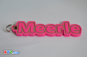 Meerle Single & Dual Color 3D Printable Keychain-Badge-Stamp | Other Files | Everything Else
