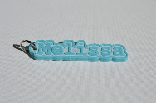 First Additional product image for - Melissa Single & Dual Color 3D Printable Keychain-Badge-Stamp