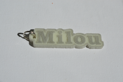 First Additional product image for - Milou Single & Dual Color 3D Printable Keychain-Badge-Stamp