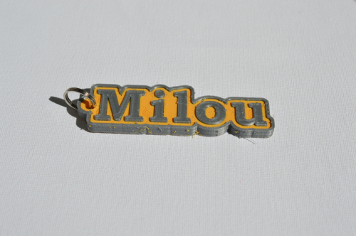 Second Additional product image for - Milou Single & Dual Color 3D Printable Keychain-Badge-Stamp