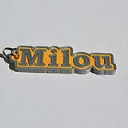 Milou Single & Dual Color 3D Printable Keychain-Badge-Stamp | Other Files | Stock Art