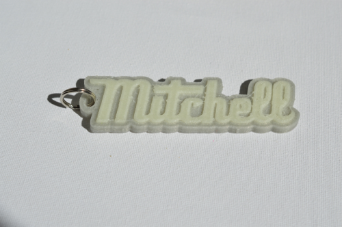 First Additional product image for - Mitchell Single & Dual Color 3D Printable Keychain-Badge-Stamp