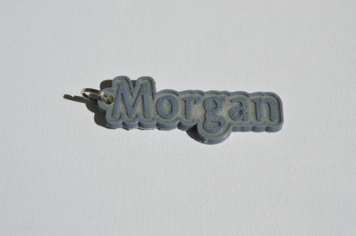 First Additional product image for - Morgan Single & Dual Color 3D Printable Keychain-Badge-Stamp