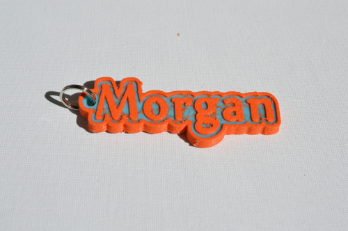 Second Additional product image for - Morgan Single & Dual Color 3D Printable Keychain-Badge-Stamp