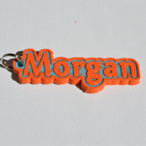 Morgan Single & Dual Color 3D Printable Keychain-Badge-Stamp | Other Files | Graphics