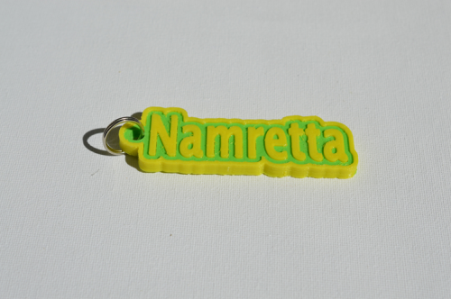 First Additional product image for - Namretta Single & Dual Color 3D Printable Keychain-Badge-Stamp
