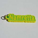Namretta Single & Dual Color 3D Printable Keychain-Badge-Stamp | Other Files | Patterns and Templates