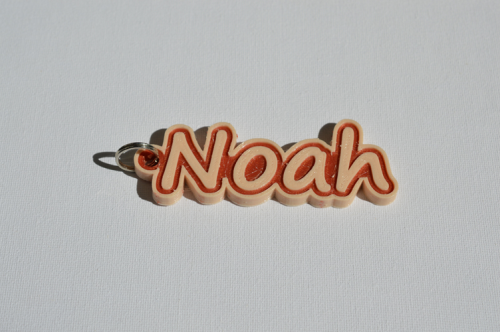 First Additional product image for - Noah Single & Dual Color 3D Printable Keychain-Badge-Stamp