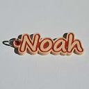 Noah Single & Dual Color 3D Printable Keychain-Badge-Stamp | Other Files | Patterns and Templates