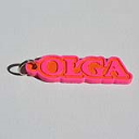 Olga Single & Dual Color 3D Printable Keychain-Badge-Stamp | Other Files | Everything Else