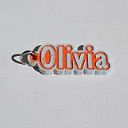Olivia Single & Dual Color 3D Printable Keychain-Badge-Stamp | Other Files | Patterns and Templates