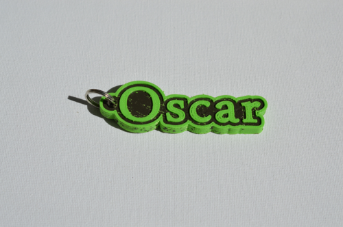 First Additional product image for - Oscar Single & Dual Color 3D Printable Keychain-Badge-Stamp