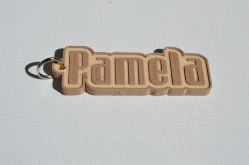 First Additional product image for - Pamela Single & Dual Color 3D Printable Keychain-Badge-Stamp