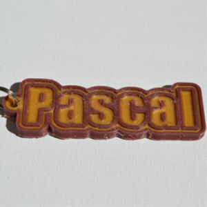 pascal single & dual color 3d printable keychain-badge-stamp