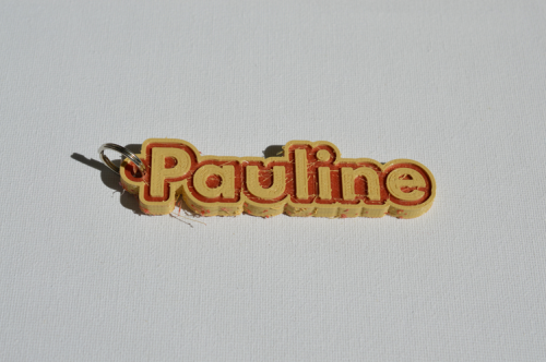 First Additional product image for - Pauline Single & Dual Color 3D Printable Keychain-Badge-Stamp