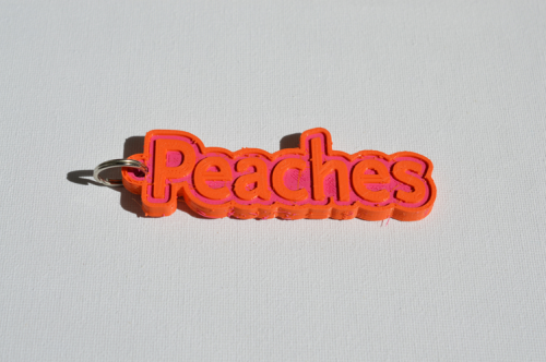 First Additional product image for - Peaches Single & Dual Color 3D Printable Keychain-Badge-Stamp
