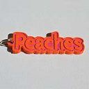 Peaches Single & Dual Color 3D Printable Keychain-Badge-Stamp | Other Files | Documents and Forms