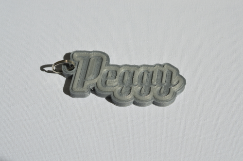 First Additional product image for - Peggy Single & Dual Color 3D Printable Keychain-Badge-Stamp