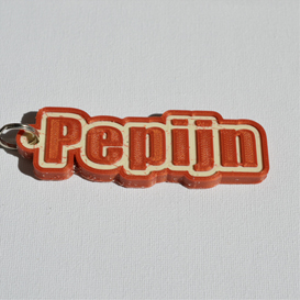 pepijn single & dual color 3d printable keychain-badge-stamp