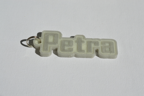 Second Additional product image for - Petra Single & Dual Color 3D Printable Keychain-Badge-Stamp