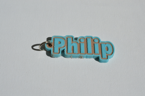 First Additional product image for - Philip Single & Dual Color 3D Printable Keychain-Badge-Stamp