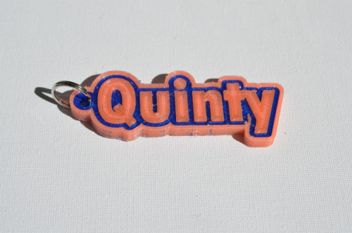 First Additional product image for - Quinty Single & Dual Color 3D Printable Keychain-Badge-Stamp