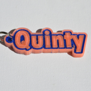 quinty single & dual color 3d printable keychain-badge-stamp