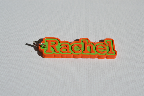 First Additional product image for - Rachel Single & Dual Color 3D Printable Keychain-Badge-Stamp