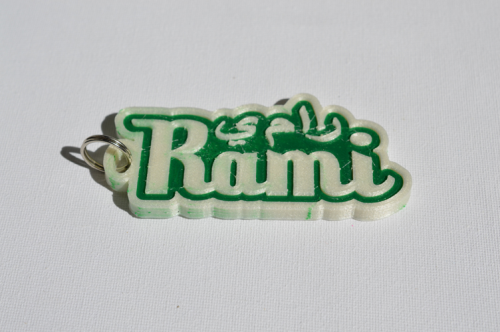 First Additional product image for - Rami Single & Dual Color 3D Printable Keychain-Badge-Stamp