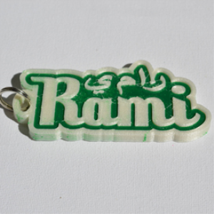 rami single & dual color 3d printable keychain-badge-stamp