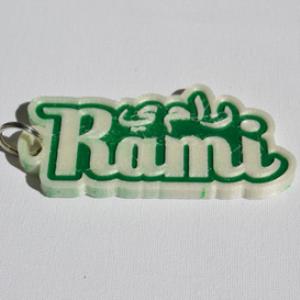 Rami Single & Dual Color 3D Printable Keychain-Badge-Stamp | Software | Design Templates