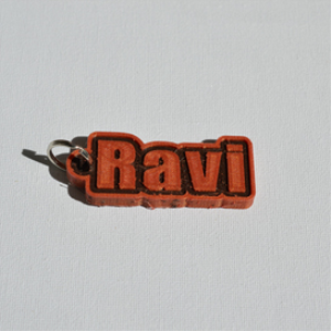 ravi single & dual color 3d printable keychain-badge-stamp