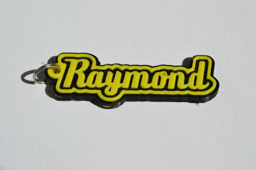 First Additional product image for - Raymond Single & Dual Color 3D Printable Keychain-Badge-Stamp
