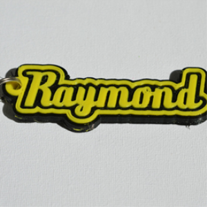 raymond single & dual color 3d printable keychain-badge-stamp