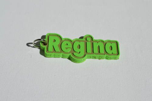 First Additional product image for - Regina Single & Dual Color 3D Printable Keychain-Badge-Stamp