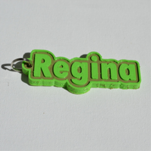 regina single & dual color 3d printable keychain-badge-stamp