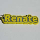 Renate Single & Dual Color 3D Printable Keychain-Badge-Stamp | Software | Design Templates