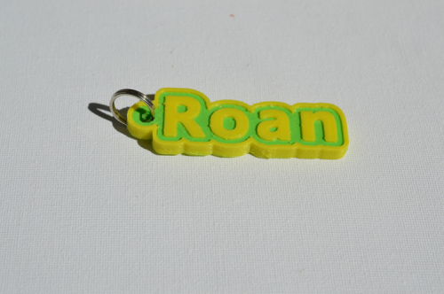 First Additional product image for - Roan Single & Dual Color 3D Printable Keychain-Badge-Stamp