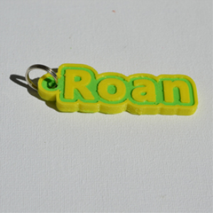 roan single & dual color 3d printable keychain-badge-stamp