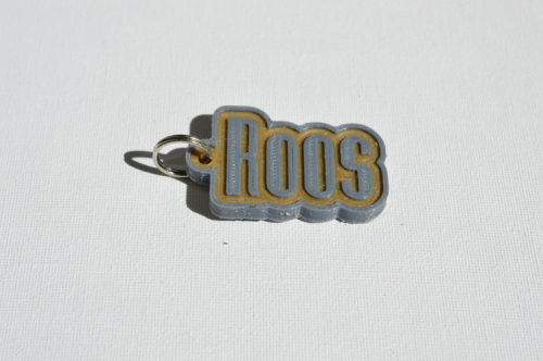 First Additional product image for - Roos Single & Dual Color 3D Printable Keychain-Badge-Stamp