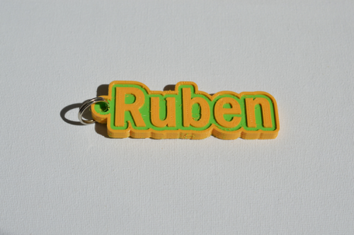 First Additional product image for - Ruben Single & Dual Color 3D Printable Keychain-Badge-Stamp