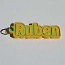 Ruben Single & Dual Color 3D Printable Keychain-Badge-Stamp | Software | Developer