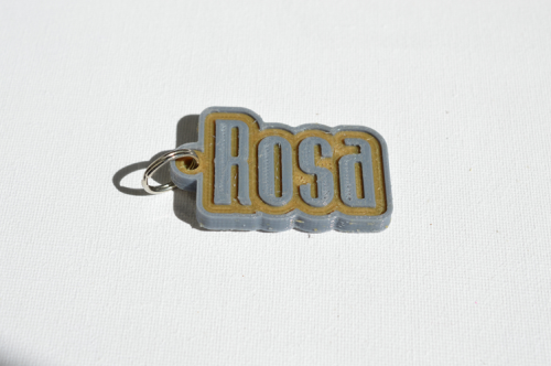 First Additional product image for - Rosa Single & Dual Color 3D Printable Keychain-Badge-Stamp