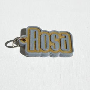 rosa single & dual color 3d printable keychain-badge-stamp