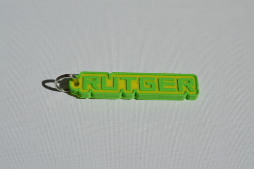 First Additional product image for - Rutger Single & Dual Color 3D Printable Keychain-Badge-Stamp
