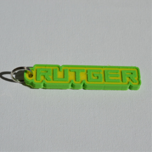 Rutger Single & Dual Color 3D Printable Keychain-Badge-Stamp | Other Files | Fonts